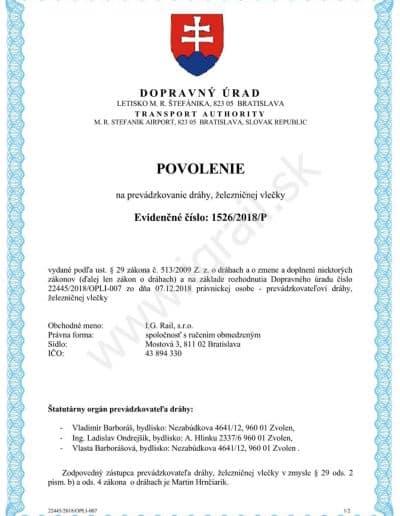 ig-rail-certifikat-povolenie-prevadzkovanie-drahy